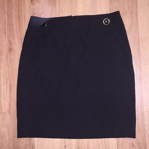 Banana Republic Black Skirt With Buttons